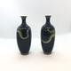 Pair of small Japanese cloisonné vases - Image 4