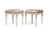 Pair of Gustavian stools, ca 1780