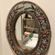 Wall-Mirror micromosaic. 19th c - Image 8