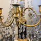A Pair Of Swedish 18th Century Gustavian Crystal And Gilt Bronze Candelabra With White Marble And Faux Porphyry Bases.  - Image 9