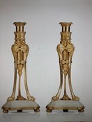Pair of French candlesticks, late 18th c