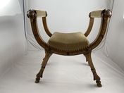 Large stool , mid 19th c