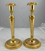 Pair of French candlesticks made ca year 1800.