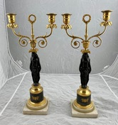 Pair of late 18th c candelabra