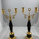 Pair of late 18th c candelabra - Image 8