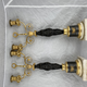 Pair of late 18th c candelabra - Image 10