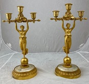 A pair of French candelabra made around 1810