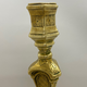 Pair of 18th century candlesticks, brass - Image 3