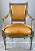 Gustavian armchair, late 18th c.