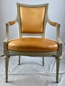A Swedish Gustavian armchair, late 18th c