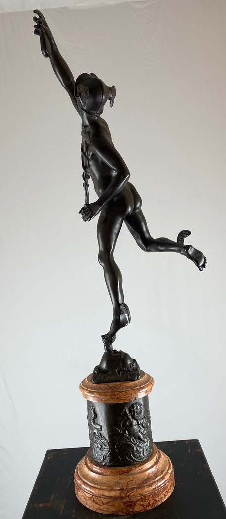 Grand tour sculpture depicting Mercurius flying, 19th c - Image 4