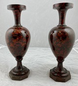 Pair of hardstone vases, probably Russian. early 19th c