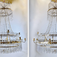Important pair of Swedish Gustavian chandeliers made around year 1800. - Image 1