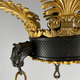 A French empire chandelier, ca 1830 - Image 4