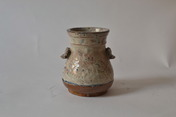 Japanese ceramics whiteglazed jar