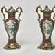 Pair of Chinese Ormolu Mounted Porcelain vases. 18th century.  - Image 4