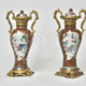 Pair of Chinese Ormolu Mounted Porcelain vases. 18th century.  - Image 3