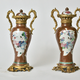 Pair of Chinese Ormolu Mounted Porcelain vases. 18th century.  - Image 2