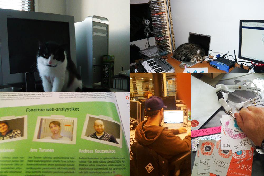 Työpöytiä ja meininkiä 2008-2009