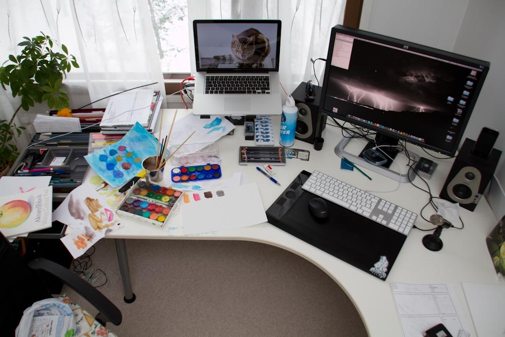 Työpöytäni vuonna 2009