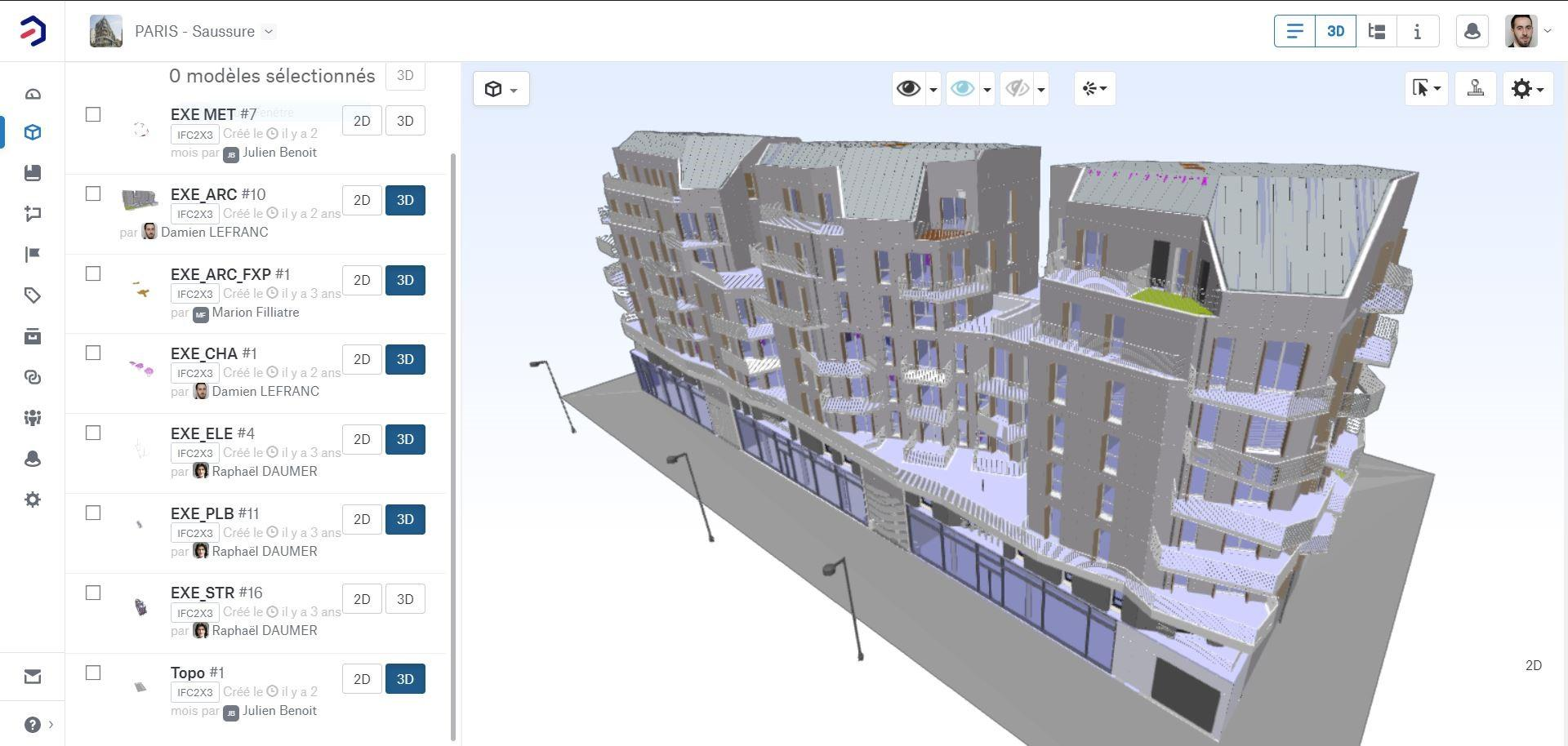 3D model in Bimsync's viewer