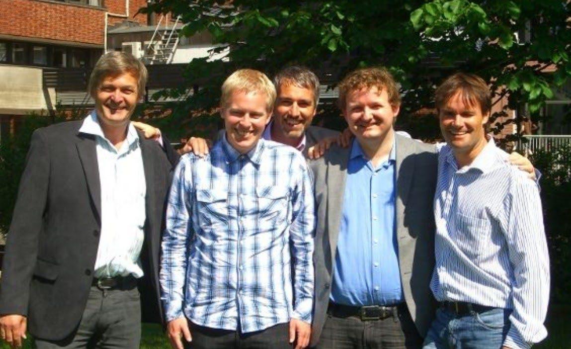 The founding Catenda team: Ole Jørgen, Jan Erik, Håvard, Dag and Lars