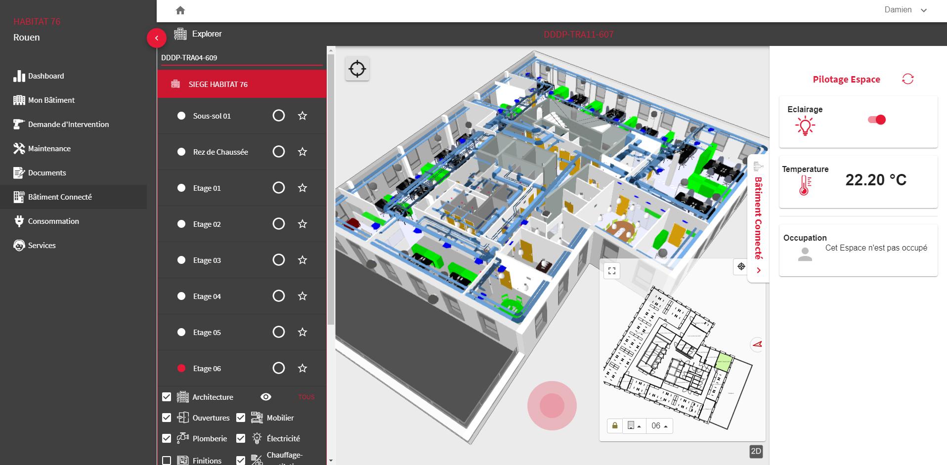 Interface utilisateur dans MaXim