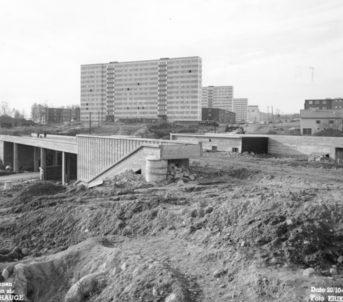 1962: Kalbakken stasjon blir bygd. Foto: Erik Næss/Oslo Byarkiv