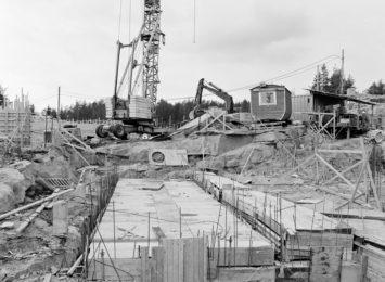 Anleggsarbeid på Grorudbanen. Foto: Aterlier Rude/Oslo Museum
