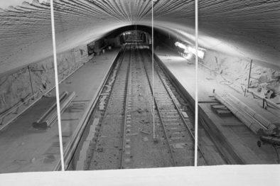 Romsås stasjon blir bygd. Foto: Atelier Rude/Oslo Museum Rude