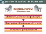 """Информационные материалы о порядке действий при получении сигнала """"Внимание всем!"""""""