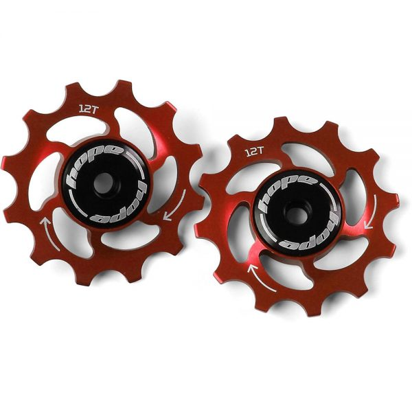 Hope 12 Tooth Jockey Wheels - Red, Red