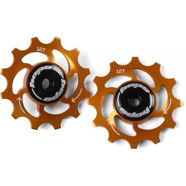 Hope 12 Tooth Jockey Wheels - Orange, Orange