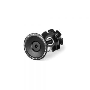 "Sixpack Racing Skywalker Top Cap - Black - 1.1/8"", Black"
