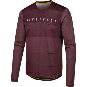 Nukeproof Blackline Long Sleeve Jersey - XXL - Red, Red