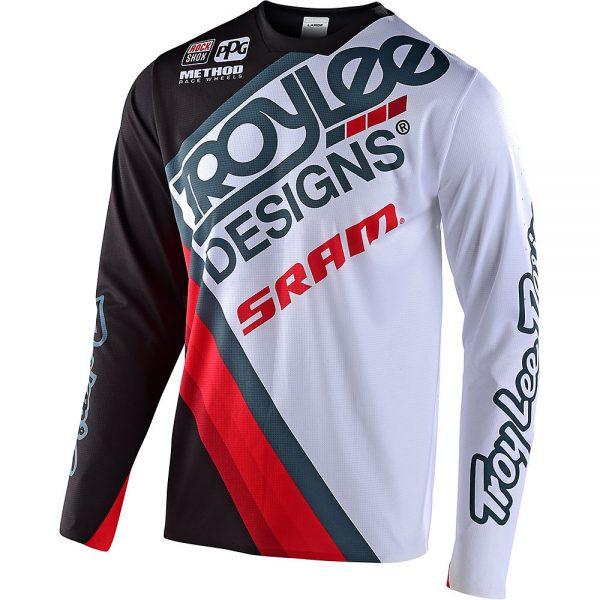 Troy Lee Designs Sprint Ultra Jersey Tilt Sram - M - Black-White, Black-White