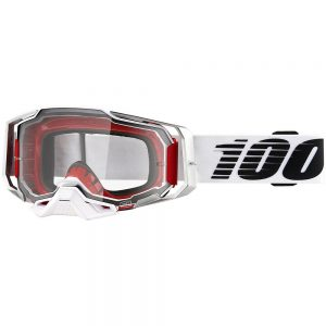 100% ARMEGA Goggle Lightsaber - Clear Lens 2019 - Red-White-Silver, Red-White-Silver