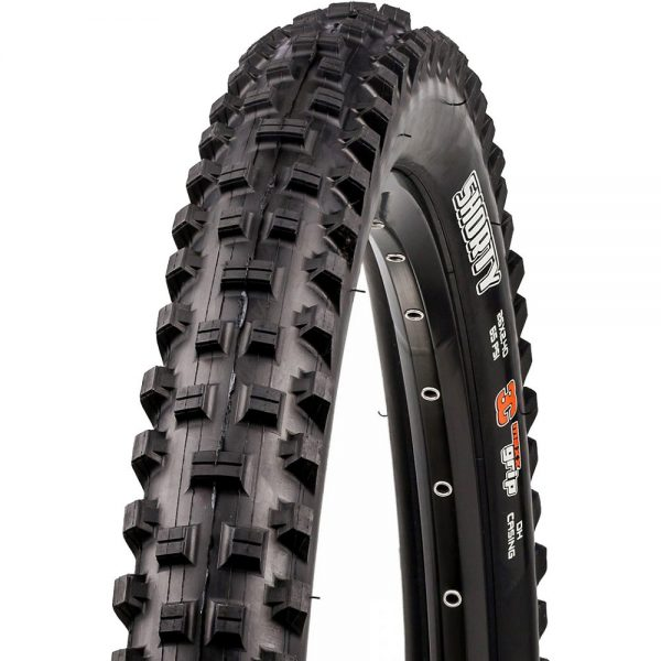 Maxxis Shorty DH MTB WT Tyre - 3C - TR - Folding Bead - Black, Black
