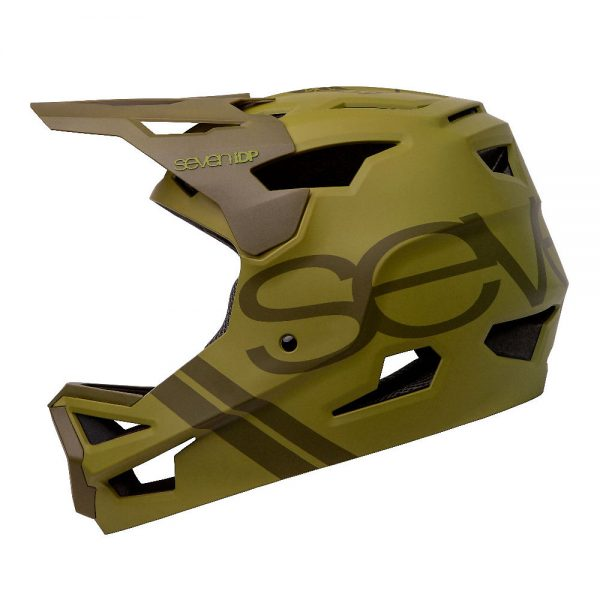 7 iDP Project 23 ABS Full Face Helmet 2020 - S - Matte Army Green-Gloss Dark Green, Matte Army Green-Gloss Dark Green