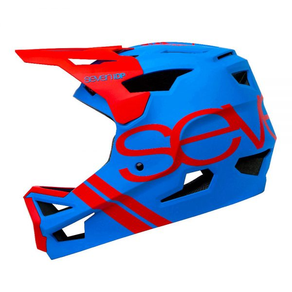 7 iDP Project 23 ABS Full Face Helmet 2020 - S - Matte Electric Blue-Gloss Thruster Red, Matte Electric Blue-Gloss Thruster Red