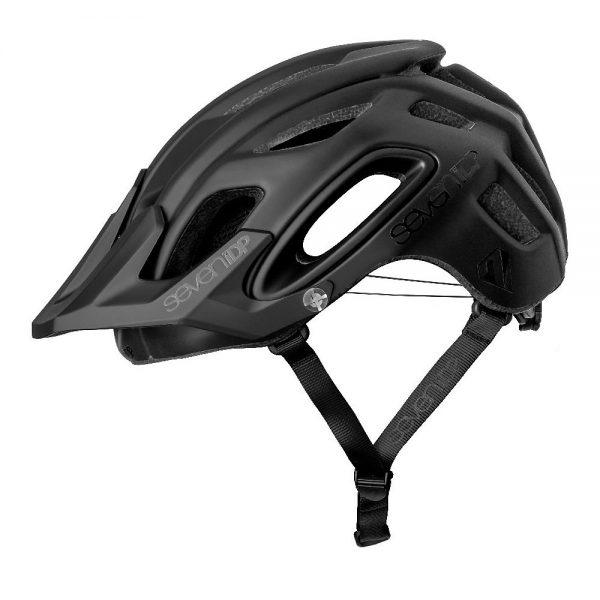 7 iDP M2 BOA Helmet 2019 - XL/XXL - Matte Black-Gloss Black, Matte Black-Gloss Black
