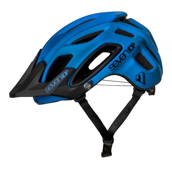 7 iDP M2 BOA Helmet 2019 - XS/S - Matte Cobalt Blue-Black, Matte Cobalt Blue-Black