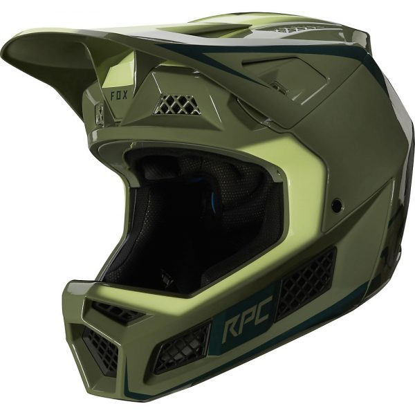 Fox Racing Rampage Pro Carbon Full Face MTB Helmet - S - Pine, Pine