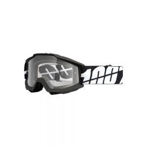 100% Accuri Goggles - Enduro Dual - Black Tornado - Clear Dual Lens, Black Tornado - Clear Dual Lens