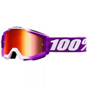 100% Accuri Goggles - Mirror Lens - Framboise - Mirror Red Lens, Framboise - Mirror Red Lens