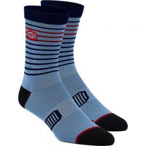 100% Advocate Performance Socks - L/XL/XXL - Blue, Blue