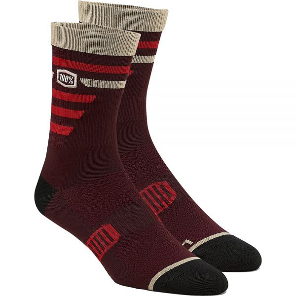 100% Advocate Performance Socks - S/M - Brick, Brick