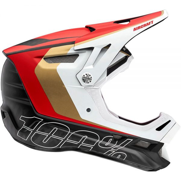 100% Aircraft Carbon MIPS Helmet - S - Red, Red