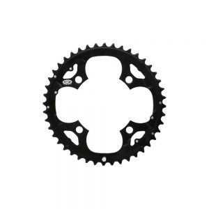 Shimano Deore FCM590 9 Speed Triple Chainrings - 4-Bolt - Black, Black