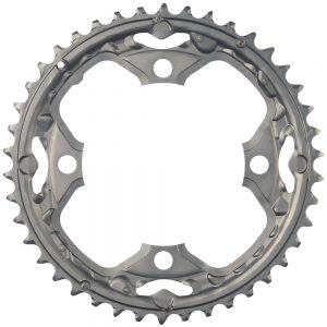 Shimano Deore FCM590 9 Speed Triple Chainrings - 4-Bolt - Grey, Grey